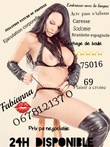 ✅✅ fabianna sublime trans bresilienne⭐⭐⭐⭐⭐  a paris 75016 - Escort Paris