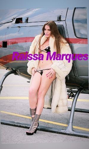 Celèbret trans pornostar raissa marques  snapchat @raissashemale - Escort Lyon